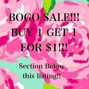 Other - BOGO Sale! Buy 1 get 1 for $1